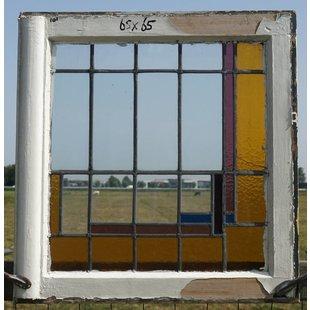 68 x 65 cm - Glas in lood raam No. 101