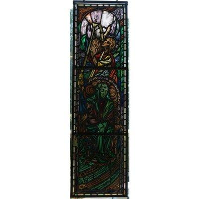 180,5 x 51 cm - Glas in lood ramen No. 107