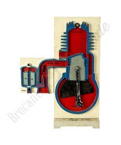 Twee takt verbrandings motor