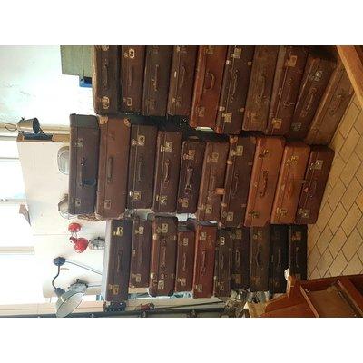 Vintage koffer bruin