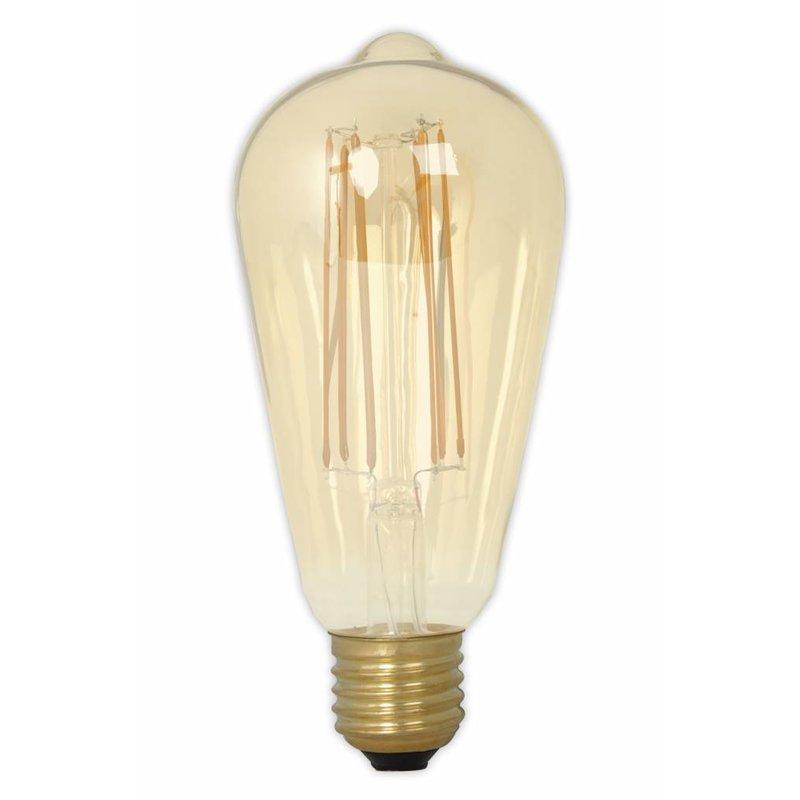 Kooldraadlamp led Edison ST64 long filament 6 watt E27