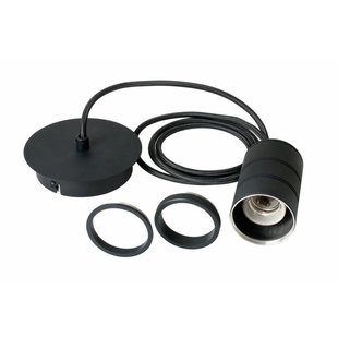 Calex pendant E27 hangfitting zwart