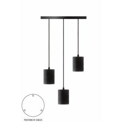 Calex pendant set 3 x E40 hangfitting zwart