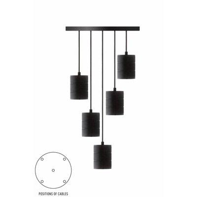 Calex pendant set 5 x E40 hangfitting zwart