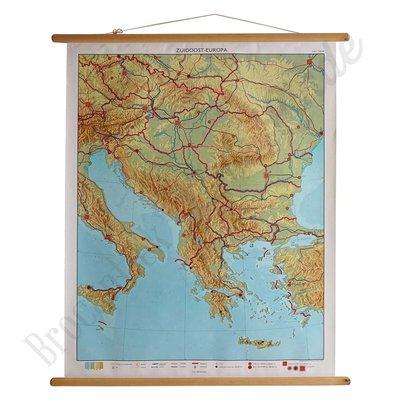Landkaart Zuid-oost Europa