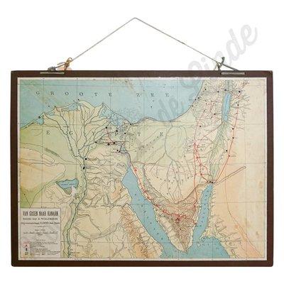 Oude landkaart ' Gosen naar Kanaan'