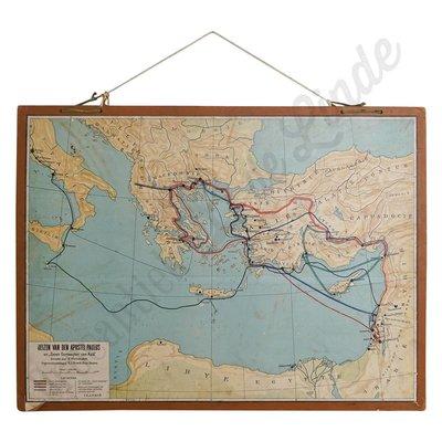 Vintage landkaart 'Apostel Paulus'