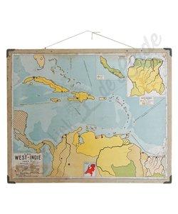 Oude landkaart West- Indië