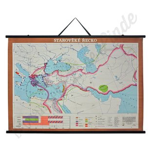 Vintage landkaart 'Griekenland'