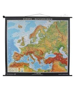 Oude landkaart 'Europa - natuurkundig'