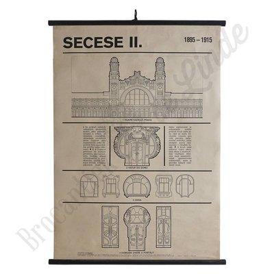 Schoolplaat architectuur 'Secesse II'