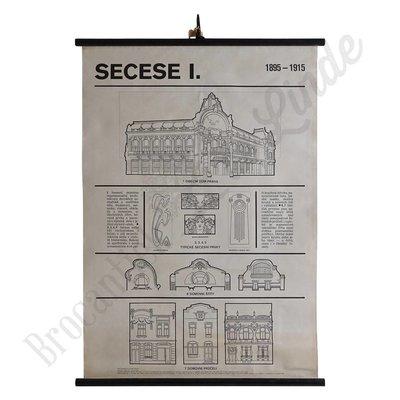 Schoolplaat architectuur 'Secese I'