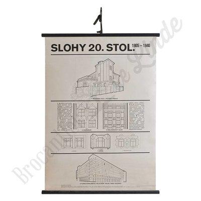 Schoolplaat architectuur 'Slohy 20 Stol'