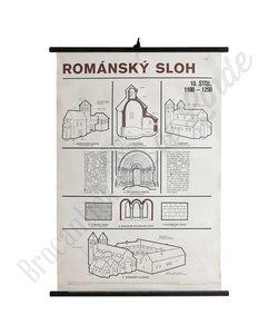 Schoolplaat architectuur 'Romansky Sloh'