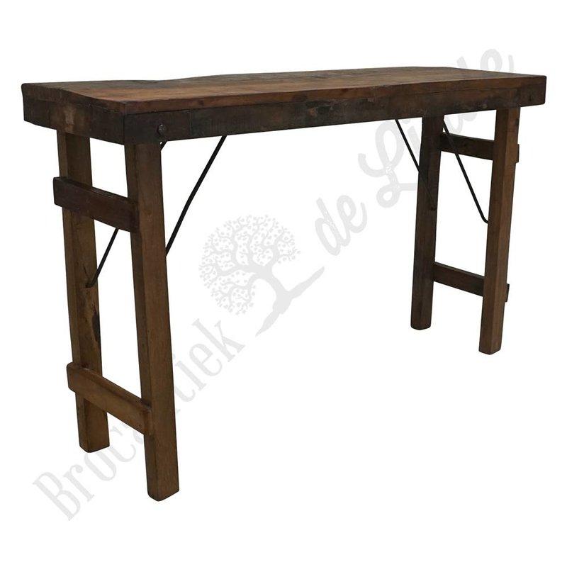 Vintage wooden markttafel 'Medium'