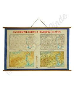 Schoolplaat planimetrische kaart