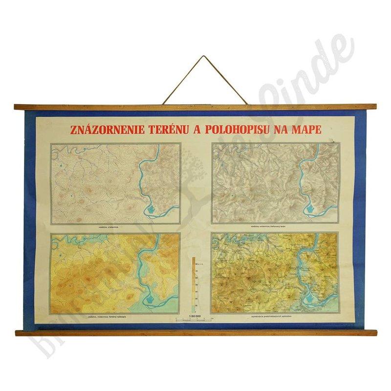 Schoolplaat Plan en kaart 'Blauw'