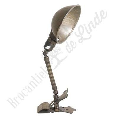 Antieke klemlamp messing