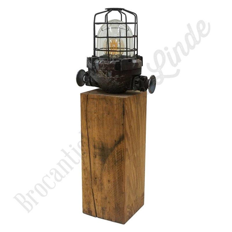 Bully kooilamp op houten blok 'Groot'