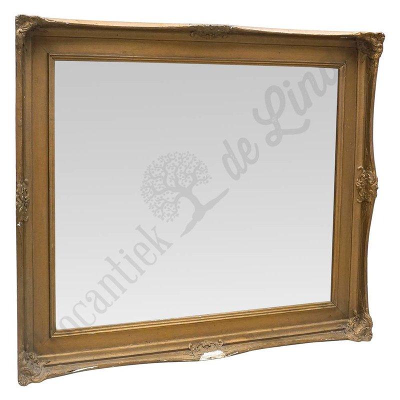 Grote vintage spiegel gips