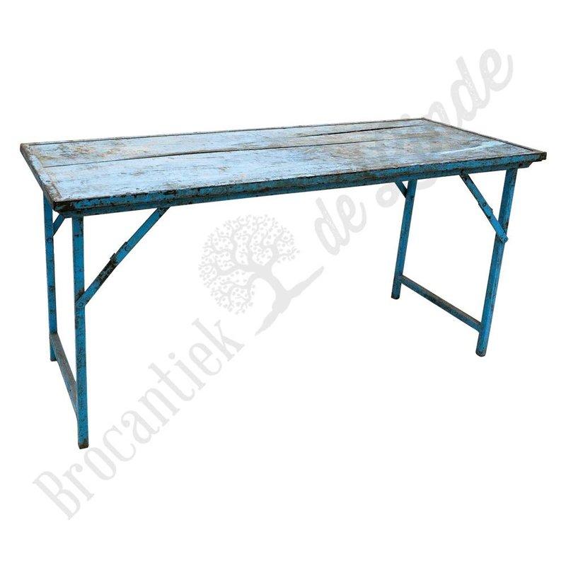 Vintage markttafel blauw