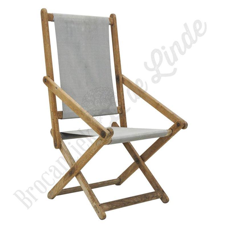 Vintage strandstoel inklapbaar