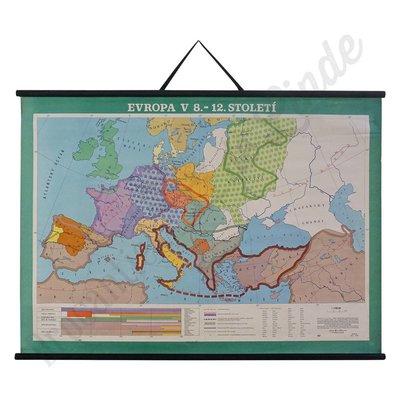 Landkaart 'Europa in de 8 - 12  eeuw'
