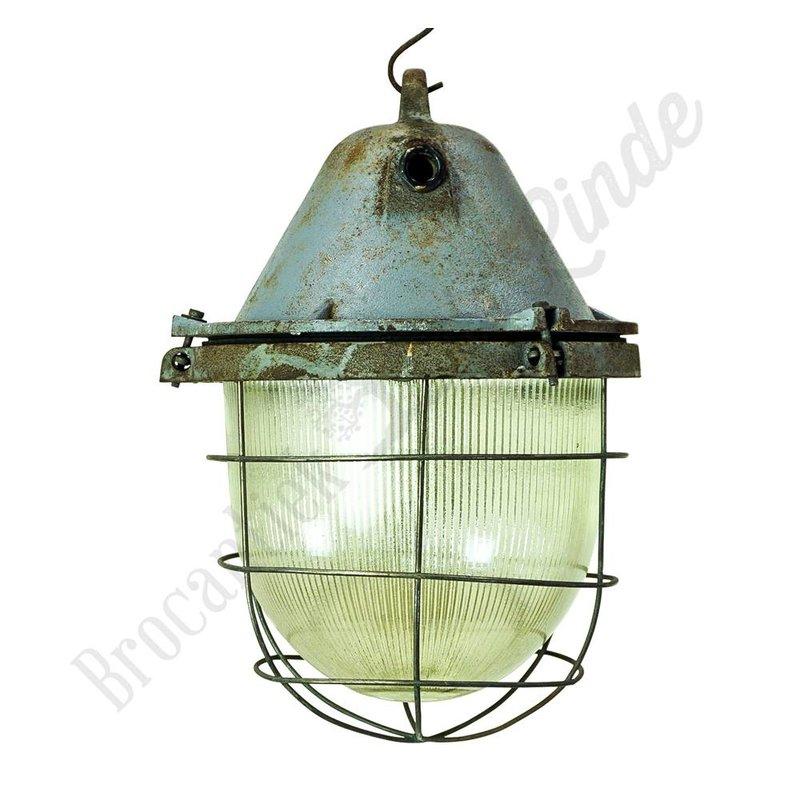 Industriële fabriekslamp  'Caged Zarowka'