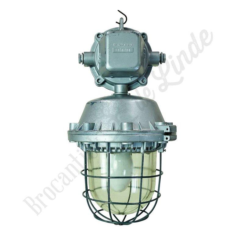 Stoere industriele hanglamp 'Commando Polam'