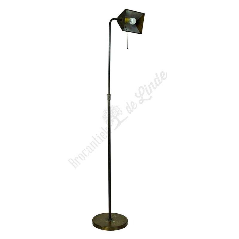 Retro vloerlamp 'Messing'