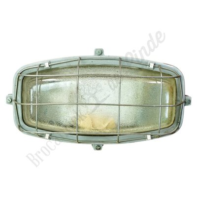 Vintage wandlamp 'Oblong Caged'
