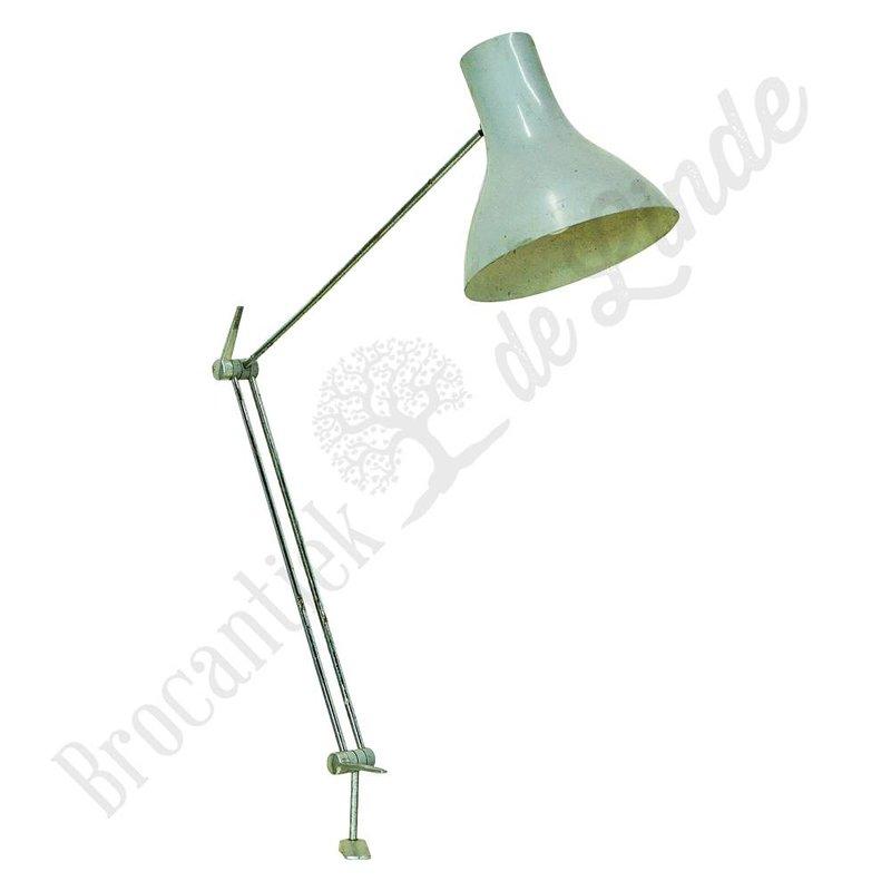 Vintage klemlamp 'White python'
