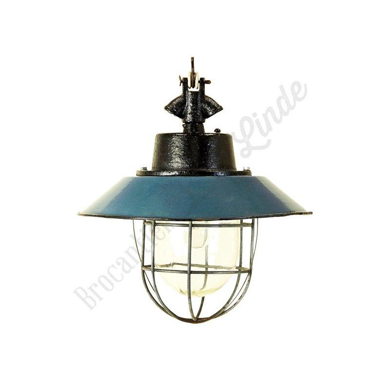 Stoere industriele hanglamp 'Maly Petrol'