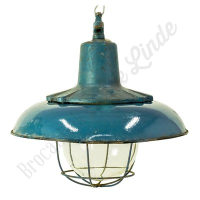 Stoere Bauhaus lamp 'Caged Cast Flower'