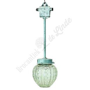 Oude glazen hanglamp 'Long Svetlo'