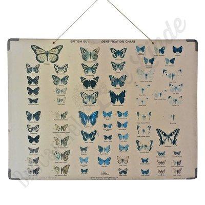 Vintage schoolplaat 'Vlinders'