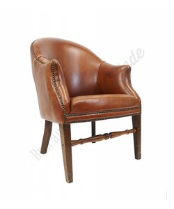 Vintage lederen club chair