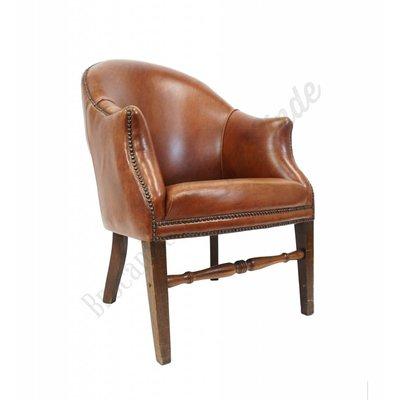 Vintage lederen club chair