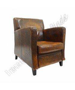 Vintage schapenlederen fauteuil