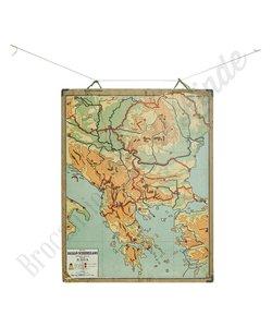 Oude landkaart 'Balkan-Schiereiland'