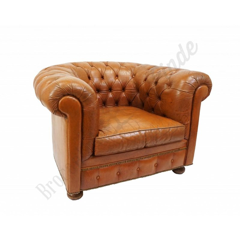 Vintage chesterfield fauteuil