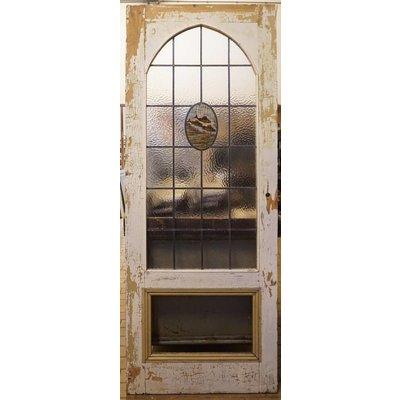 201 x 77,5 cm - Glas in lood deur No. 9