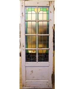211 x 77 cm - Glas in lood deur No. 11