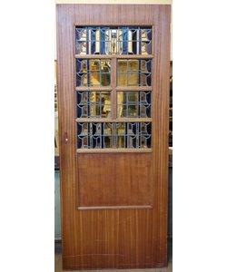 201,5 x 82,5 cm - Glas in lood deur No. 13
