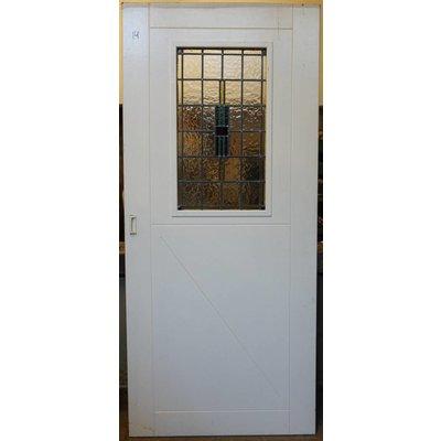 209,5 x 92,5 cm - Glas in lood deur No. 14