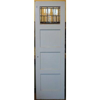 211,5 x 62,5 cm - Glas in lood deur No. 16