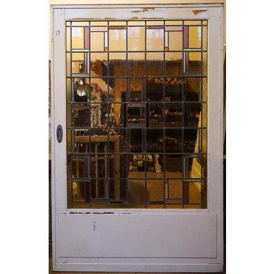 214 x 137 cm - Glas in lood deur No. 19