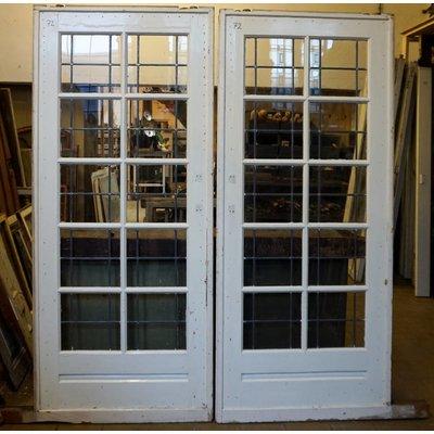 203,5 x 176 cm - Glas in lood deur No. 72