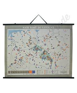 Vintage landkaart 'Ons land tot de 5e eeuw'