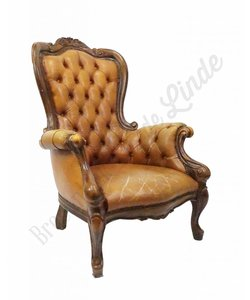 Vintage Chesterfield oorfauteuil